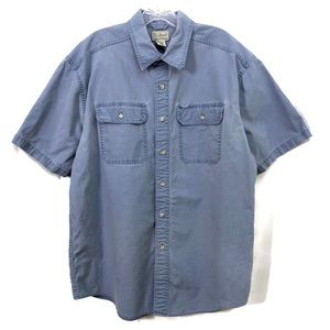 L.L.Bean Denim Shirt Short Sleeve Men's Large